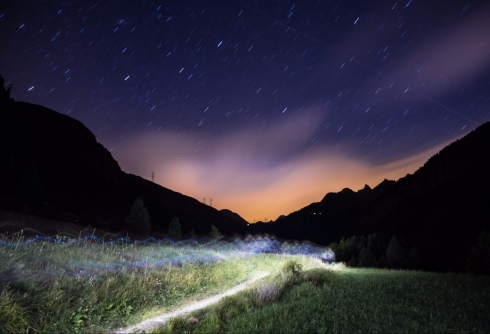 Tor des Geants at Night